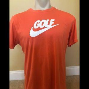 Nike Orange Golf Dri-Fit T-Shirt Size Large